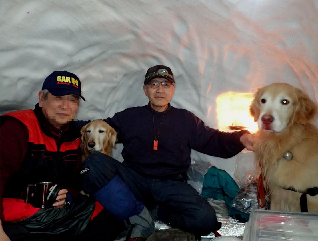 犬と雪洞泊 (1)