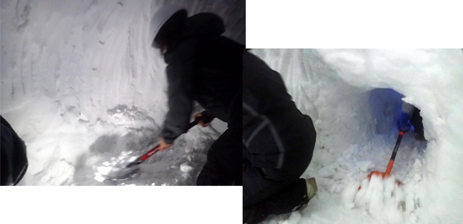3月27日 雪洞づくり(12)