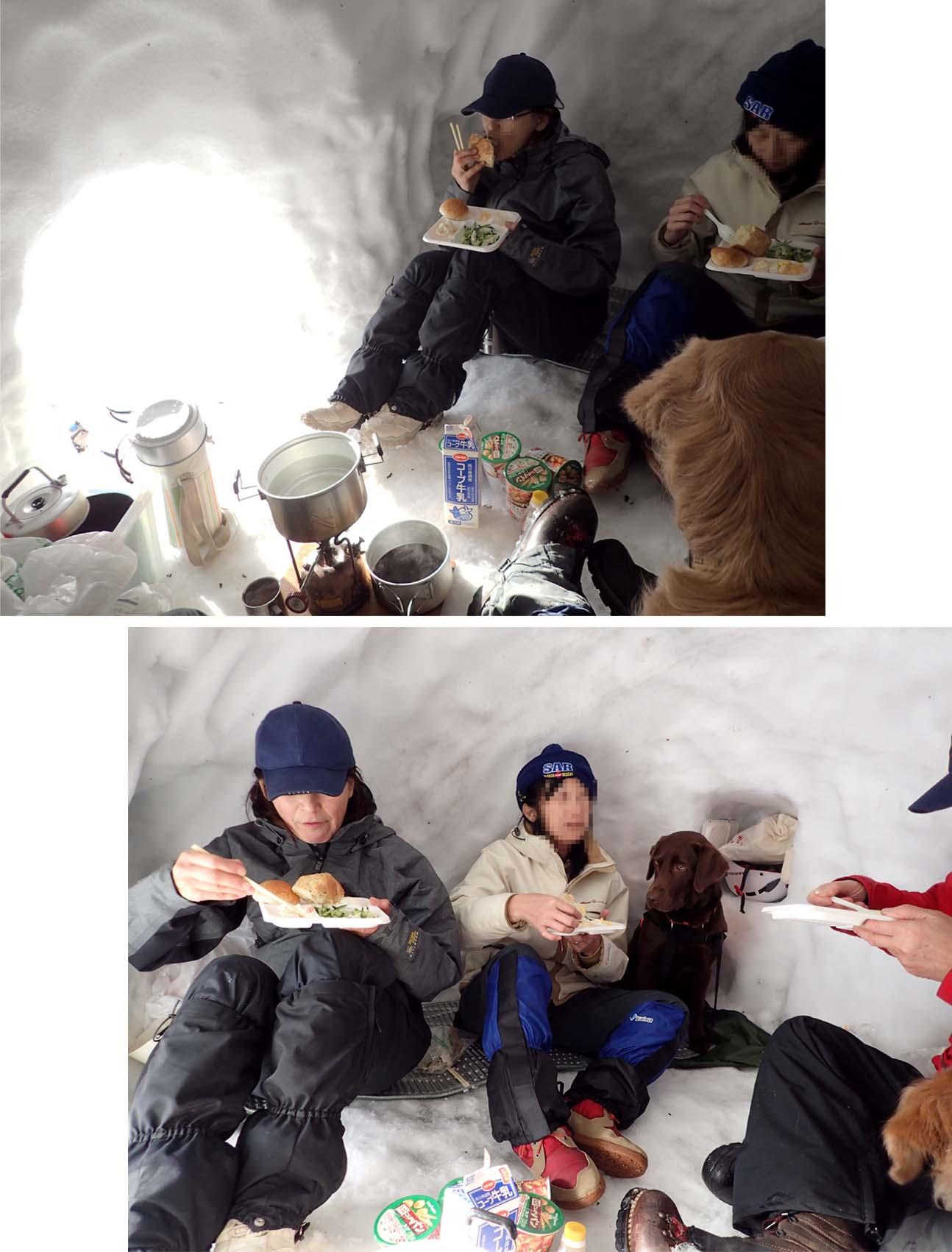 3月28日 雪洞の朝(6)