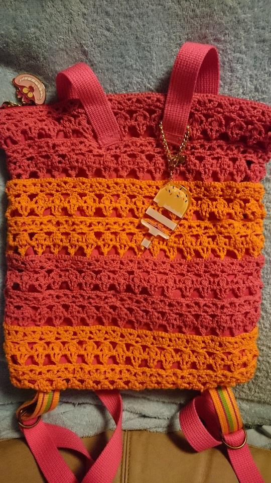 リュックレース編み