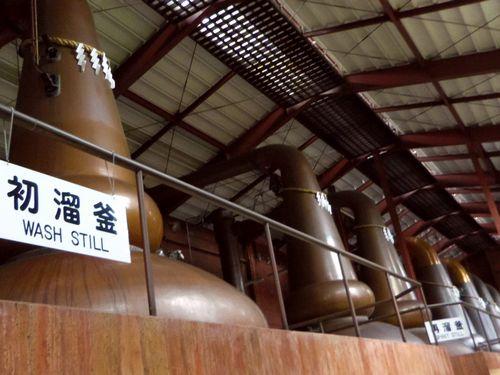 ニッカウイスキー仙台宮城峡蒸留所12蒸溜楝ポットスチル