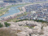 桜2015船岡城址・白石川堤21船岡城址公園頂上より