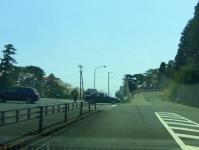 松島西行戻しの松公園2014桜4駐車場入口