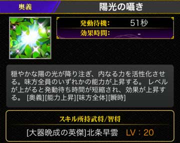 陽光の囁きLV20