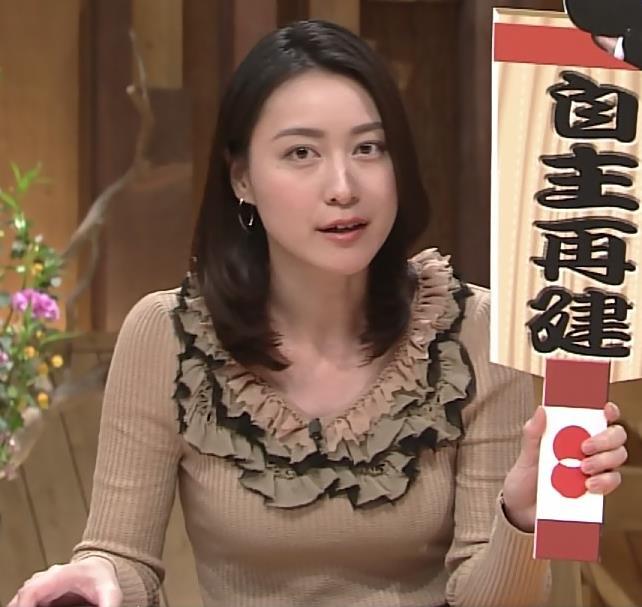小川彩佳 セーターキャプ・エロ画像4