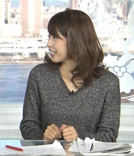加藤綾子 セーターキャプ・エロ画像3