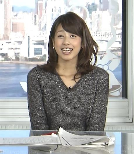 加藤綾子 セーターキャプ・エロ画像4