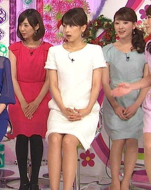 加藤綾子 ミニスカ▼ゾーン 白いワンピース