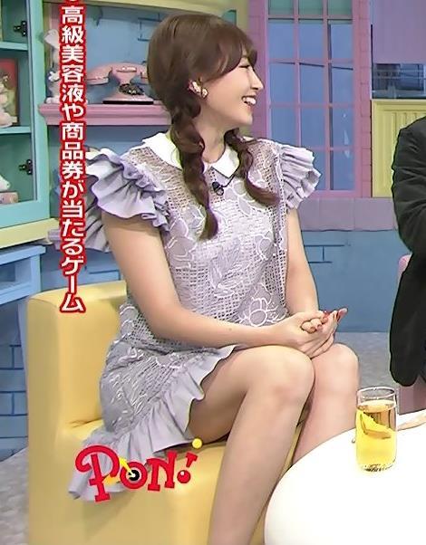 小嶋陽菜 太ももキャプ・エロ画像4