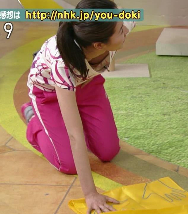 NHKで巨乳が豪快にチラリしていた 巨乳キャプ・エロ画像3
