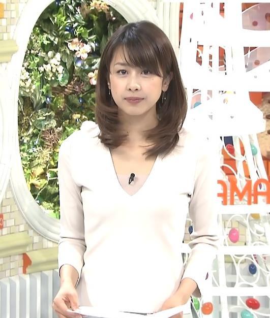 加藤綾子 Vネックキャプ・エロ画像3