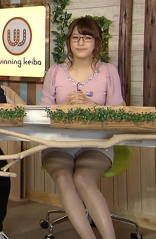 鷲見玲奈 乳乗せキャプ・エロ画像6