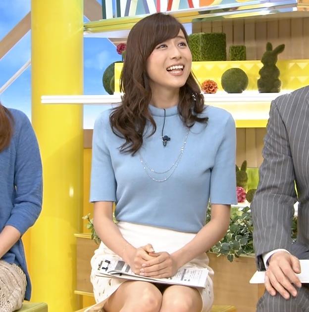 笹川友里 美人アナのミニスカ▼ゾーン&横乳がエロい