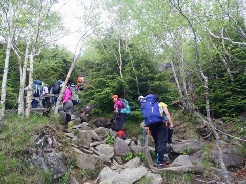 行列の登山道