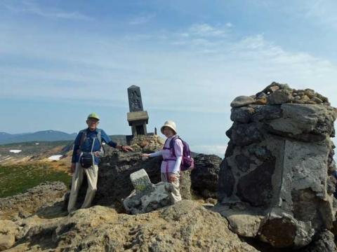 安達太良山の山頂で