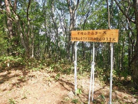 登山道途中の標識