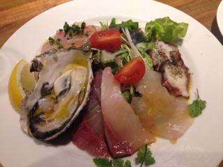 本日鮮魚のカルパッチョ(ハーフサイズ)
