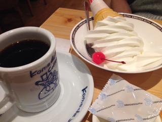 ブレンドコーヒーとソフトクリーム