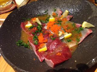 旬魚のカルパッチョ