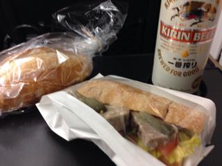 オリーブパンとパテカンサンド