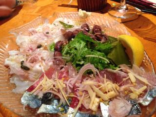 寒鯖と北海タコのカルパッチョ