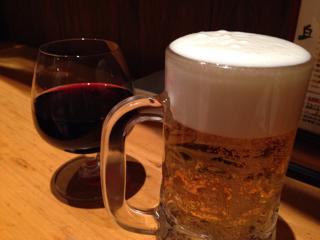 ビールとワイン追加