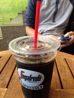 セガフレードでアイスコーヒー