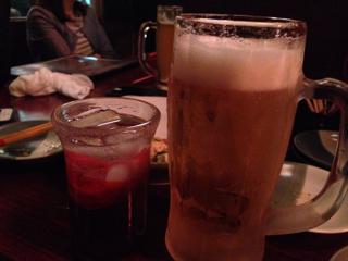 ビールと泡盛
