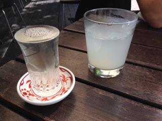 日本酒(澤の花)と蕎麦焼酎お湯割り
