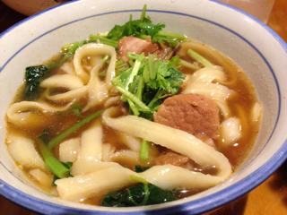 スペアりぶ麺(食べかけ)