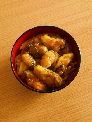 牡蠣のバター炒め丼