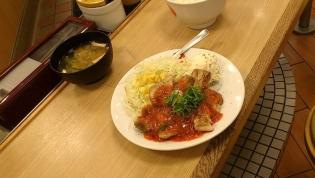松屋、鶏のチリソース定食6
