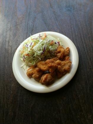 ハマケイ3個で500円若鶏の塩唐揚4