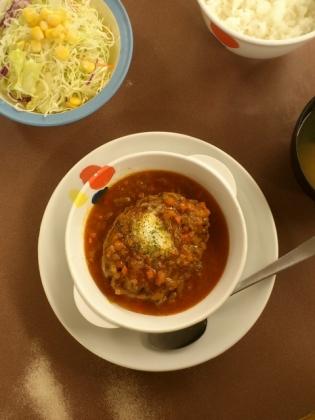 松屋、店舗限定香味野菜のミートソースハンバーグ定食3