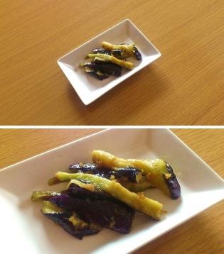 茄子蒸し生姜焼き