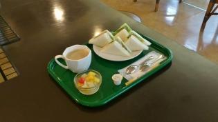 花壇野菜サンド、ホットコーヒー3