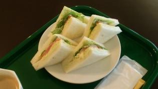 花壇野菜サンド、ホットコーヒー5