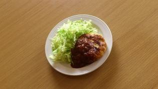 チキンハンバーグ玉葱ケチャップソース
