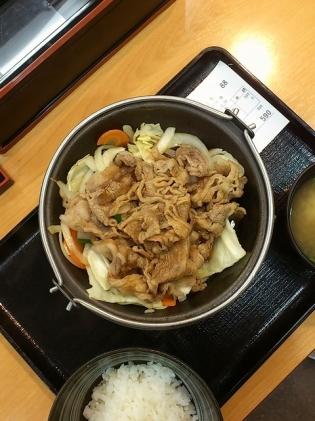 吉野家牛バラ野菜(焼)(並)2