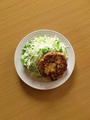 鶏ムネひき肉ハンバーグ1