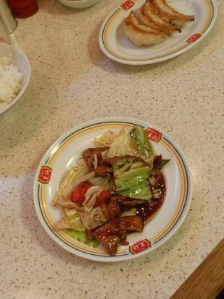 餃子の王将、JSM(回鍋肉、餃子)ライス小6