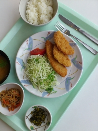 OWLでB定食(ハムカツ&白身魚フライ)3