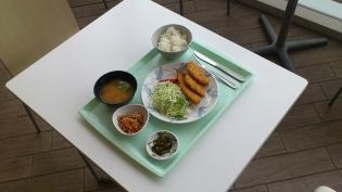 OWLでB定食(ハムカツ&白身魚フライ)4