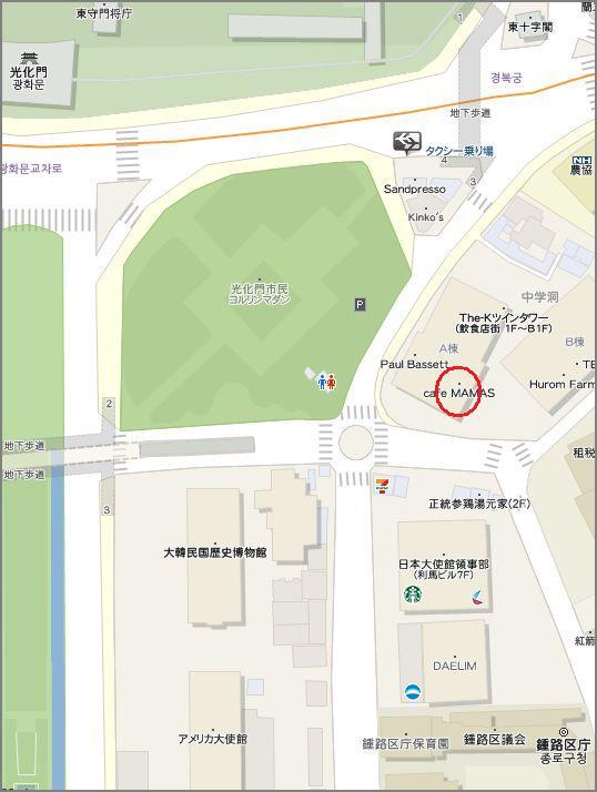cafeMAMASの地図