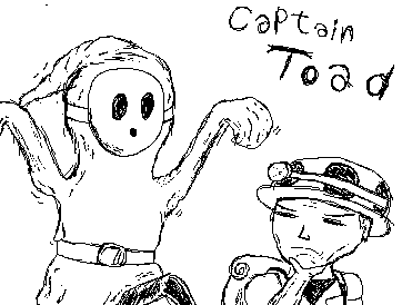 captain toad and shyguy
