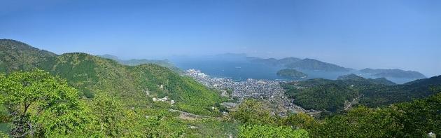 ハチマキ展望台からの眺望(パノラマ)