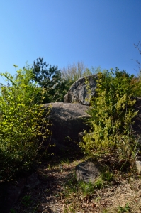 下から見たかぶと岩