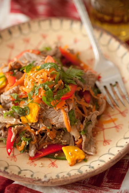 牛肉サラダ2