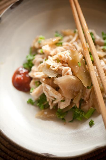 ムネ肉の搾菜和え2