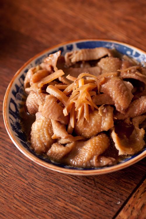 鶏皮生姜煮
